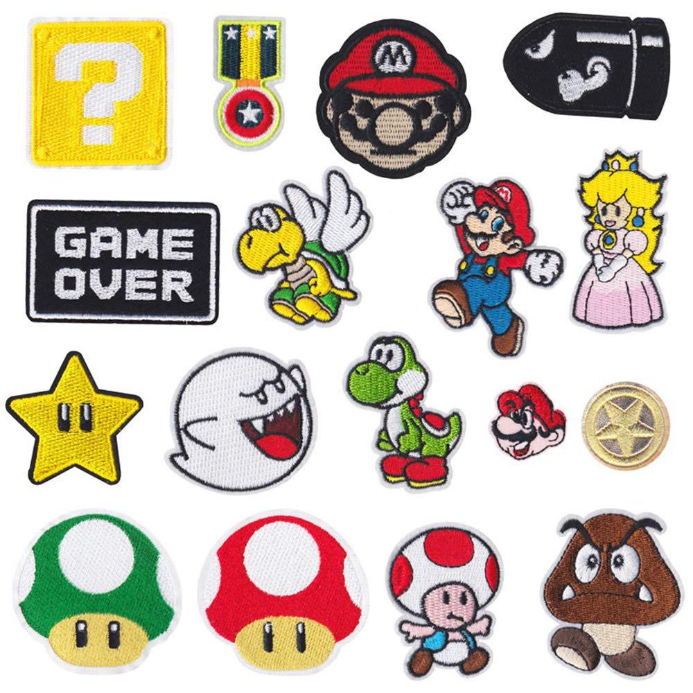 17 piezas para videojuegos de Super Mario Bros,
