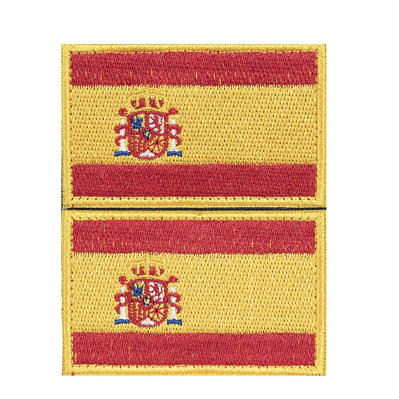 Envio 24h 2 Parches Velcro x España Bandera Táctico