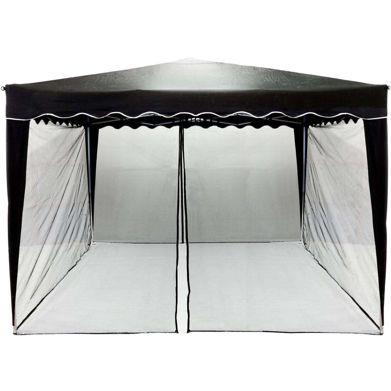 INSTENT® Mosquitera para cenador de 3x3 12 m. Selección de Color: Negro o Blanco,