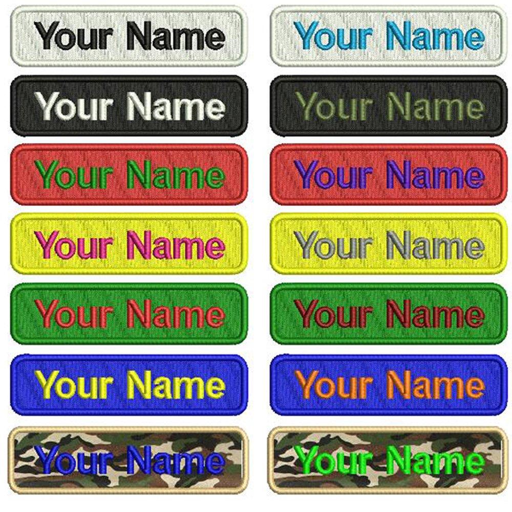 Personalizado Bordado Nombre parche, 2 piezas