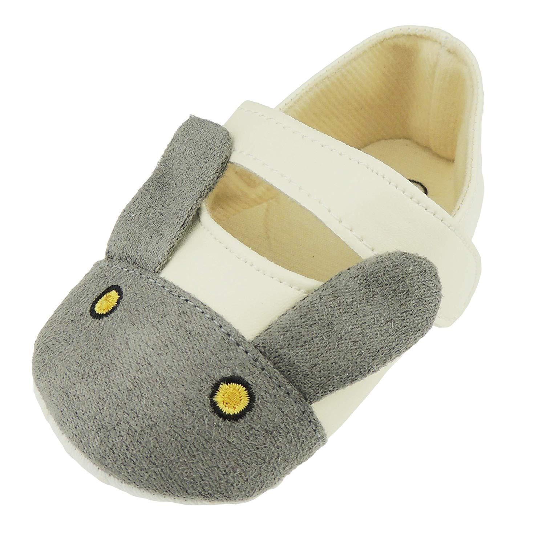 Sandalias con correa de velcro para bebé y niña, diseño de conejo,